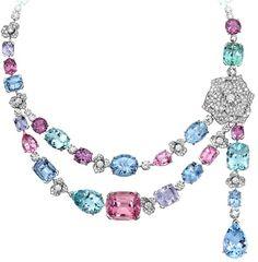 Collar Oro blanco Diamante Aguamarina - PIAGET                                                                                                                                                                                 Más