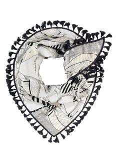 POM Amsterdam Super Sailor sjaal met dessin 220 x 95 cm • de Bijenkorf