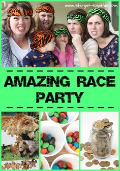 Awesome amazing race party, complete with ready-to-print (or personalize) clues for each team.