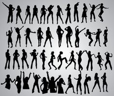 47 Girls Dancing Poses Silhouettes - Free Vector Site | Download Free Vector Art, Graphics