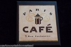 Paris Coffee Shop Plaque Kitchen Wall Decor Cafe Caffe Picture French Bistro   eBay