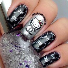 hello kitty  by tymaria78   #nail #nails #nailart