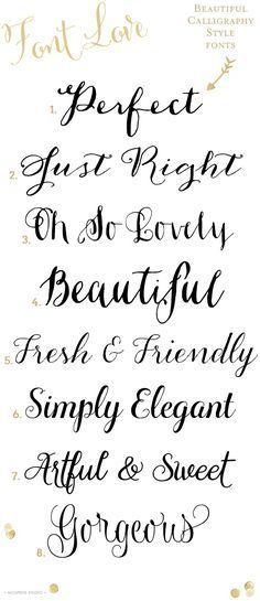 8 Gorgeous calligraphy style fonts | www.mospensstudio.com