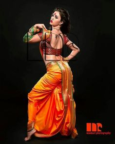 The Nauvari saree has been in the tradition of Maharashtra since the tradition started itself. It represents women's freedom as it evolved for the female warriors and labourers.