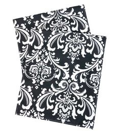 """Table Runners Damask Black 90"""" x 15"""" Wide. 1/4"""" hem. Cotton  Price: $39.00"""