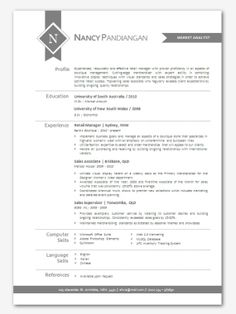 Aqua Modern Microsoft Word Resume  P Template By Inkpower