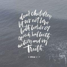1 John 3:18 <3