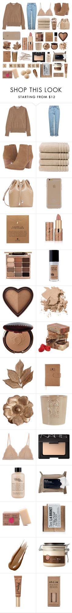 """AMBER"" by x-nyaaa ❤ liked on Polyvore featuring Uniqlo, Topshop, Franco Sarto, Christy, MANGO, Agent 18, Dogeared, tarte, Stila and Too Faced Cosmetics"