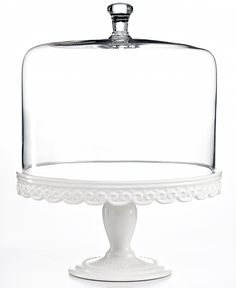 Martha Stewart Collection Serveware Embossed Cake Stand with Dome  sc 1 st  Pinterest & Artimino Tuscan Countryside Footed Cake Plate #Dillards I would bake ...