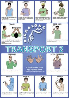 Transport (2) Signs Poster - BSL (British Sign Language)