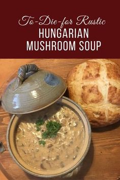 Who doesn't love a delicious bowl of soup? Make it a to-die-for rustic Hungarian mushroom soup and you have heaven in a bowl. Who doesn't love a delicious bowl of soup? Make it a to-die-for rustic Hungarian mushroom soup and you have heaven in a bowl. Vegetarian Recipes, Cooking Recipes, Healthy Recipes, Cooking Ideas, Yummy Recipes, Healthy Soup, Lunch Recipes, Easy Cooking, Recipes Dinner