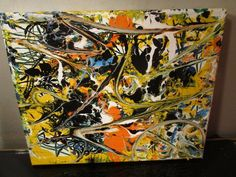 original graffiti abstract painting by musk yai 8x10 ready to hang canvas 2015 #Abstract