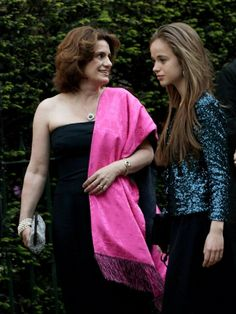 Sylvana Windsor, Countess of St Andrews (L) and her daughter Lady Amelia Windsor attends a gala Pre-Wedding dinner on 28 April 2011