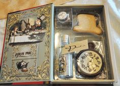 Alice in Wonderland Storybook with eat me/drink me treats inside