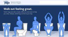 """Toilet yoga...because sometimes sh*t doesn't happen.""  HAHAHA!!"