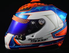 Stephen Tapper's Arai GP-6 PED. — Smart Race Paint -Helmet Painting at it's best-