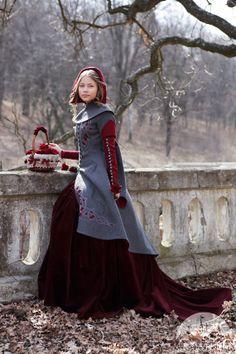 SALE Red Riding Hood Coat Costume woolen gray coat by armstreet