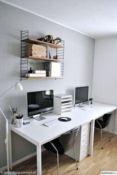 arbetsrum,kontor,före och efter,renovering,efterbild,skrivbord,sjuanstolar,svarta stolar,stringhylla,förvaring,förvaringslådor,designconcept,designconcept.se,hemmakontor,före & efter
