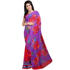 Pleasing Multicolor Color Heavy Georgette Printed Saree at just Rs.480/- on www.vendorvilla.com. Cash on Delivery, Easy Returns, Lowest Price.