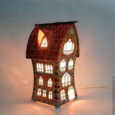 """Купить Керамический домик-ночник """"Джованни"""" - Керамика, домик, ночник, разноцветный, яркий, европейский домик"""