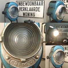 #vintage #theater #wonen #house  #brocante #stoer #industrieel #industrial  Vintage Cremer theater spot  I'm totaly in love... by maggiesbrocanteenmeer