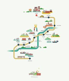 Asia Map Illustrations by Jing Zhang Sistema Visual, Asia Map, Subway Map, Journey Mapping, Taipei Travel Guide, Travel Logo, Travel Route, Treasure Maps, Travel