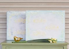 Serene pair of 16x20 canvases.  #BrittanyLyonsArt