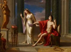François-André Vincent - Apollo and the Vestal. Tags: apollo, apollon, velstals,