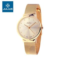Julius Lady Women's Thin Wrist Watch Quartz Hours Best Fashion Dress Korea Bracelet Stainless Steel Band Lover's Gift JA426-in Brand Watches from Watches on Aliexpress.com | Alibaba Group