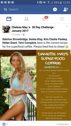 Helen Grant, Danette May, 30 Day Challenge, Superfoods, Challenges, Coffee, Recipes, Kaffee, Challenge 30 Days
