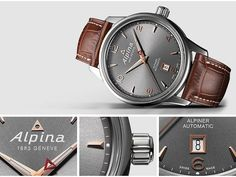 Alpina Watches Alpiner Automatic with grey dial ref. AL-525VG4E6 by Alpina Watches, via Flickr