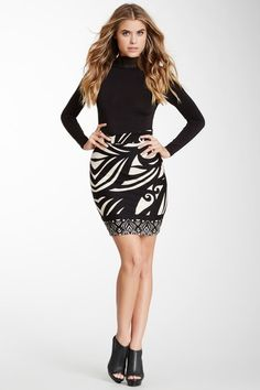 Printed Fitted Skirt by Analili on @HauteLook