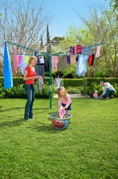 852dd06851b Hills Rotary 8 Clothesline- The largest folding head rotary clothes line  available from Hills