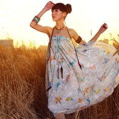 #Swanmarks Liebo Bohemian Style Chiffon Long Skirt Dress