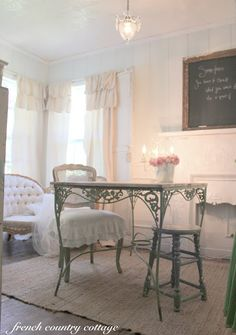 Valspar Pale Linen wall.  Soft with a hint of blue. FRENCH COUNTRY COTTAGE: A Little Refresh