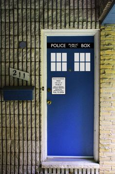 """Tardis Door Kit - FITS 24"""" to 32"""" DOORS. $25.00, via Etsy."""
