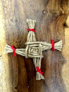 Handmade St.Brigid's Cross Imbolc Home Blessing Amulet Altar Piece. Card Topper.