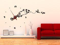 Orologio da Parete Adesivo Acrilico con Rilievo e Swarovski. Lancette 30-70 cm D in Casa, arredamento e bricolage, Orologi e sveglie, Da parete | eBay