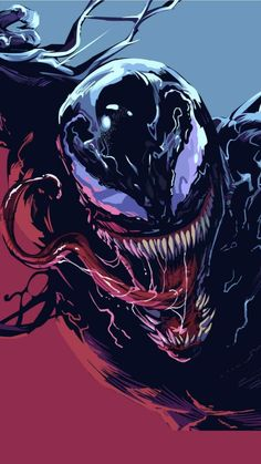 Venom movie fan art a project by heber_nimrod. Venom Comics, Marvel Venom, Marvel Villains, Marvel Comics Art, Marvel Comic Universe, Marvel Characters, Marvel Heroes, Marvel Avengers, Fictional Characters