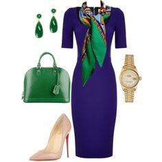 A fashion look from August 2016 featuring Victoria Beckham dresses, Christian Louboutin pumps and Rolex watches. Browse and shop related looks.