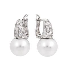 Pearl Candy White Earrings by Belle Étoile - Great for Weddings.  Silver Jewelry.  Fashion Jewelry.  Pearl Earrings.