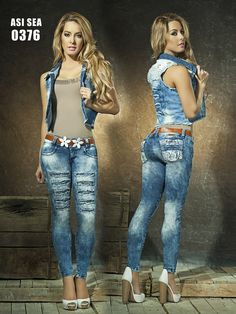 2 pcs set skinny #denim #Jeans #levantacolas  sizes 1-3-5-7-9-11-13 order hotredfashion.com Best Jeans, Cute Fashion, Denim Jeans, Capri Pants, Skinny, Casual, Capri Trousers, Thin Skinny
