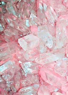 Pretty pink magical healing crystals.