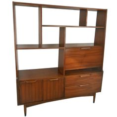 Mid Century Modern Room Divider Bookcase   From a unique collection of antique and modern bookcases at http://www.1stdibs.com/storage-case-pieces/bookcases/