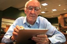 equal opportunity - tech is for the young and old equally...senior ipad