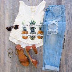 Pineapple Love Crop Top