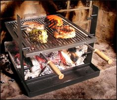 outdoor wood burning grill