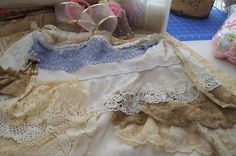 creating a vintage rags tote from an old skirt~~Tea's Hope Chest~~: Vintage Rag Tote~