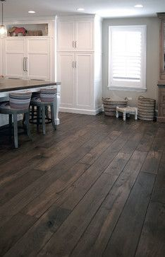 Signature Innovations Elk Grove - Barrington Residence - This Smoked Black Oak wide plank hardwood flooring, which is now being offered among our many collections, is a uniqu...