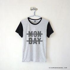 Cross Out Monday Baseball T-shirt | Kiss Me Bang Bang | Niall Horan | One Direction
